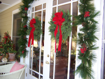 Displaying Christmas Wreaths Outside