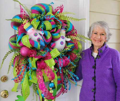 Learn to Make a Deco Mesh Wreath