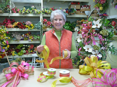 Learn to make bows for wreaths and tree toppers