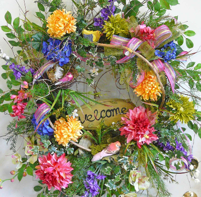 Learn how to make a beautiful door wreath