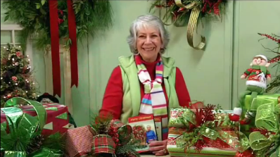 How to Wrap Christmas Presents with Pizazz with the How to Make Wreaths Expert!