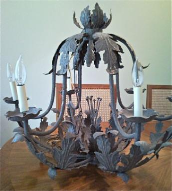Old yard sale chandelier