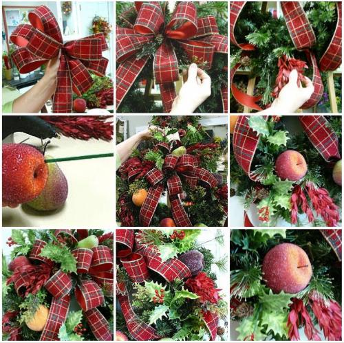 how to make a wreath, door wreath