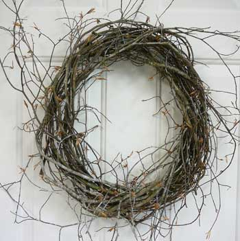 How to make a wreath birch wreaths
