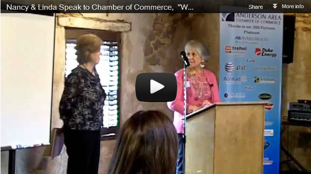 Nancy & Linda of Best of Nancy.com Speak at the Chamber of Commerce