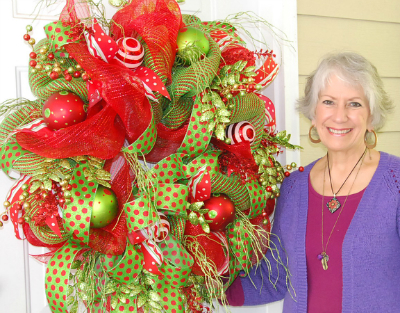 image - How To Make A Christmas Wreath With Mesh