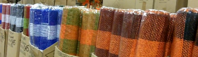 Row after Row after Row of beautiful Deco Mesh; GREAT Prices!