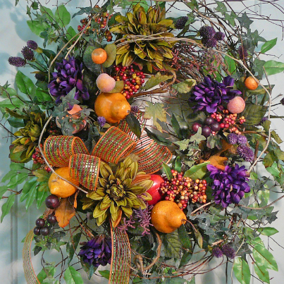 Fall Door Wreaths by Ladybug Wreaths