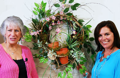 Nancy and Wendy Beautiful Wreath