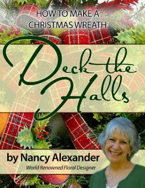 how to make a wreath christmas door wreath